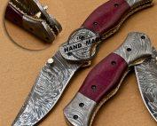 Damascus Folding Liner Lock