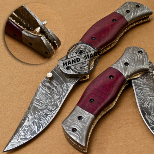 Damascus Folding Liner Lock