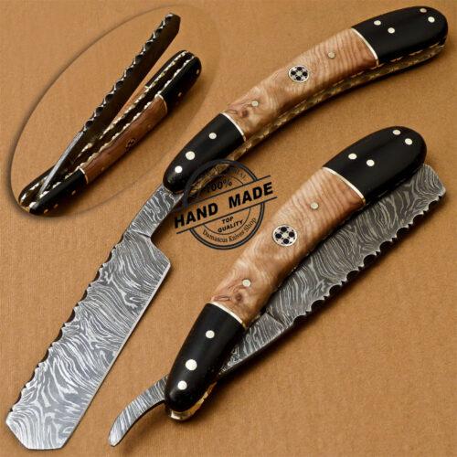 Damascus Razor Knife