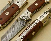 Damascus Folding Knife