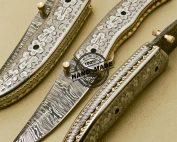 Engraving Damascus Folding