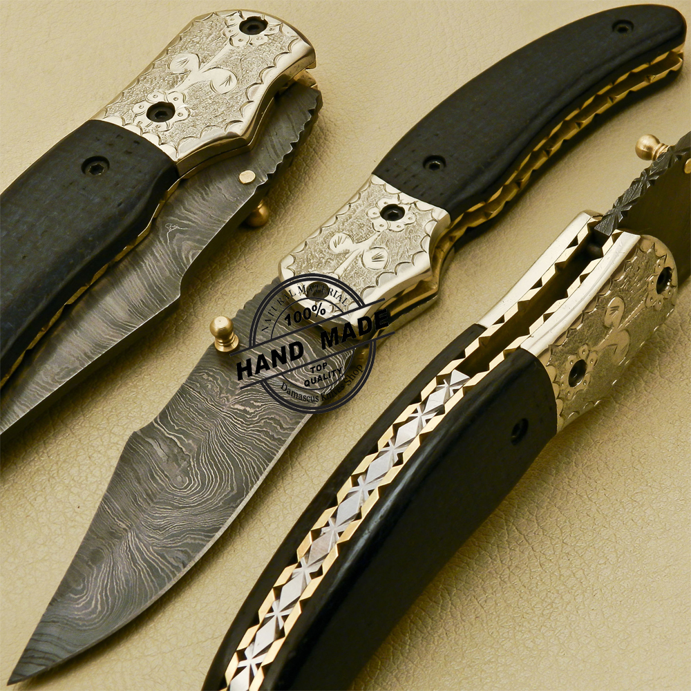damascus steel knives how to make
