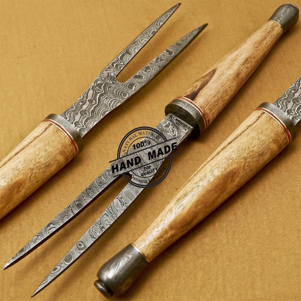 Damascus Fork Knife