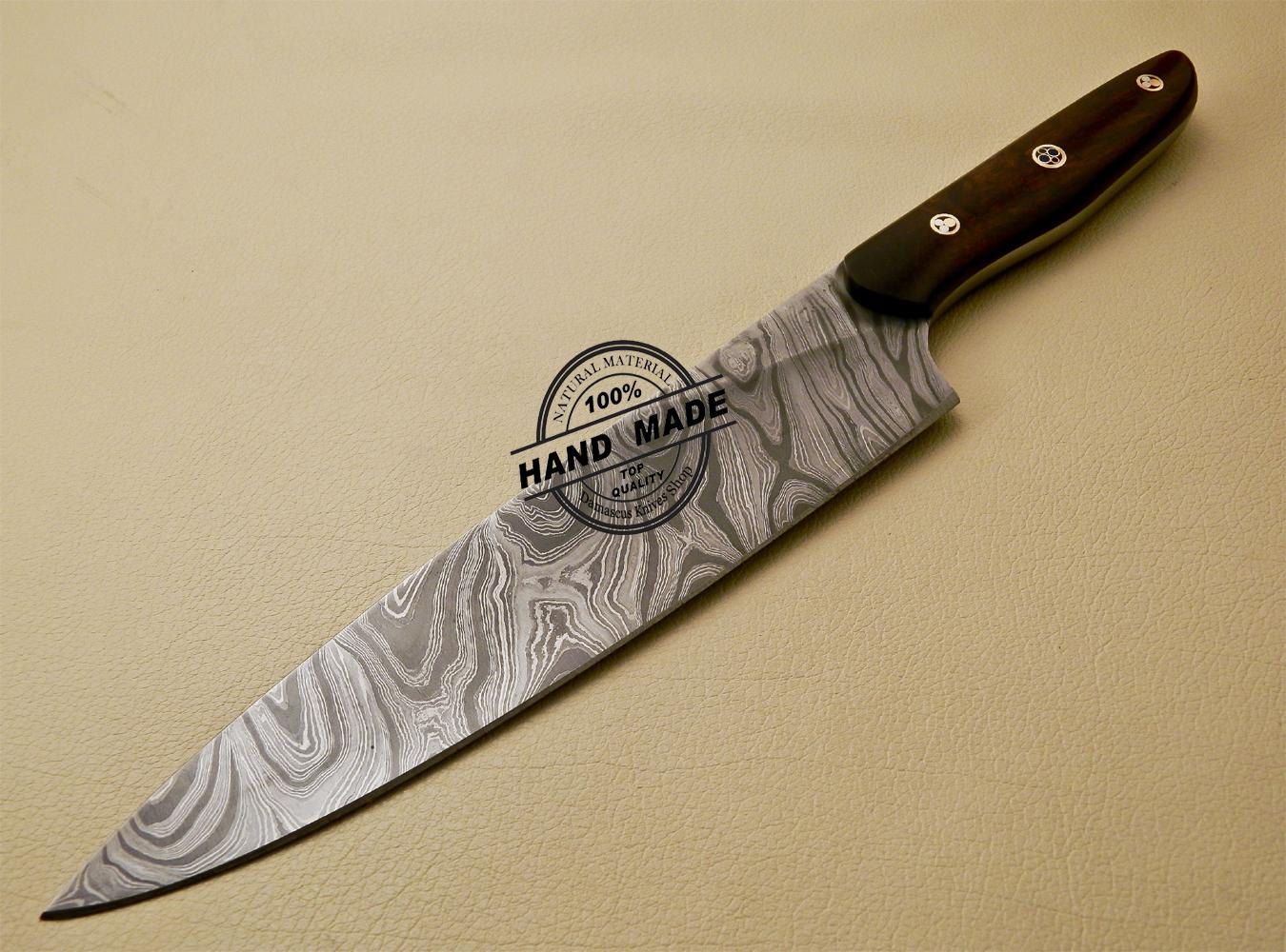 damascus kitchen knives damascus kitchen knife custom handmade damascus kitchen