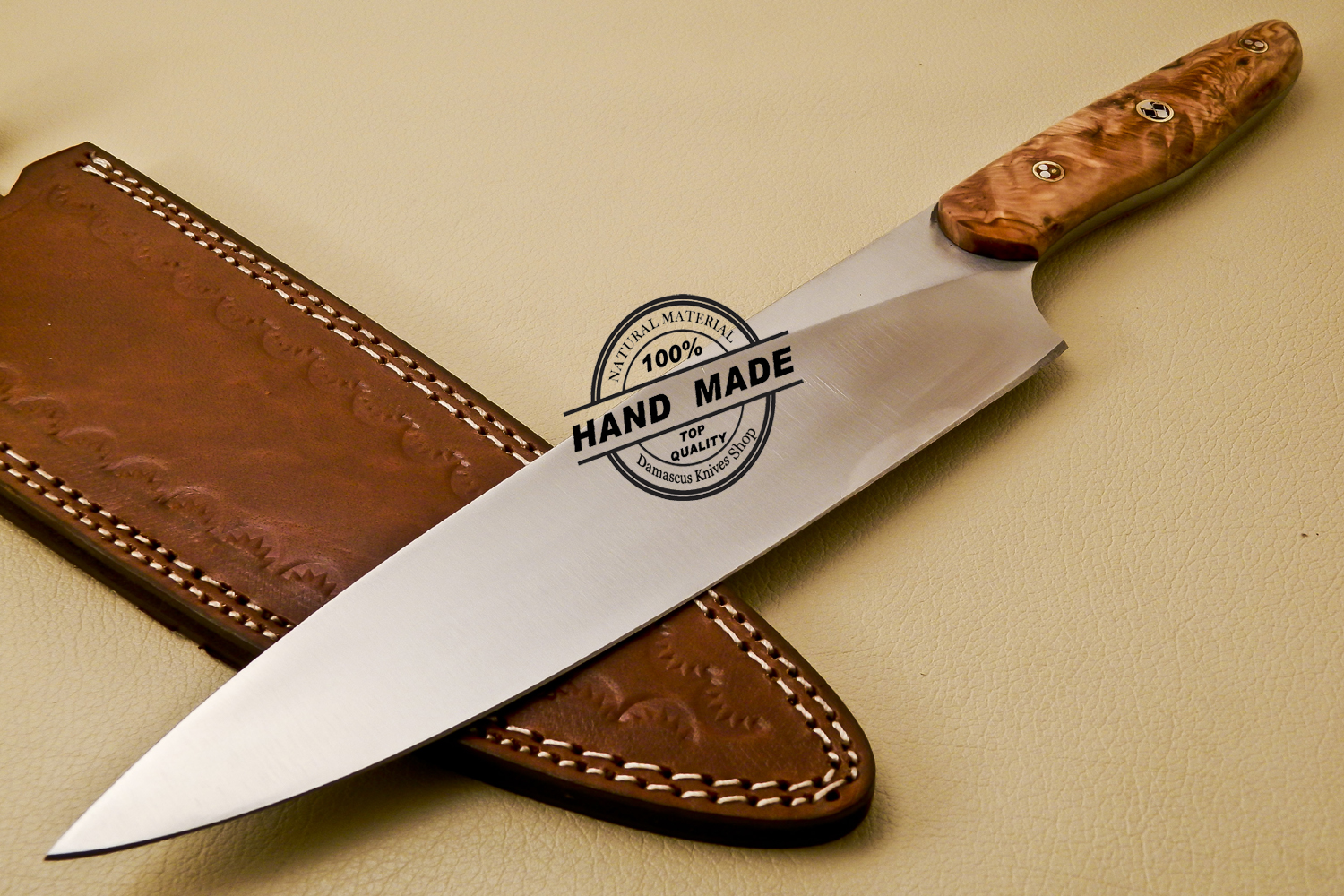 hand made kitchen knives kitchen knife custom handmade stainless steel kitchen chef knife with cow handle 838 7599