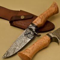 Damascus Skinner Knife