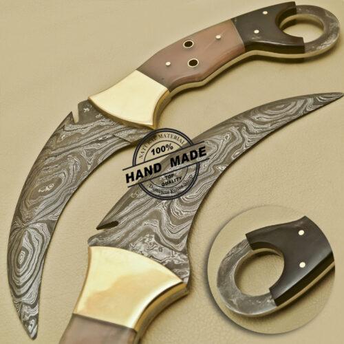 Damascus Karambit Knife