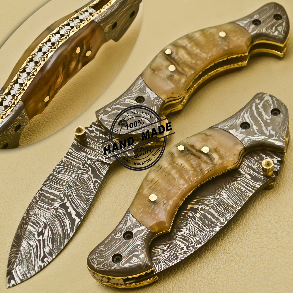 New Damascus Pocket Knife