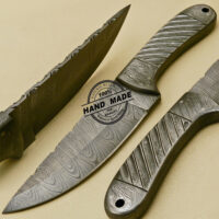 Full Damascus Skinner Knife
