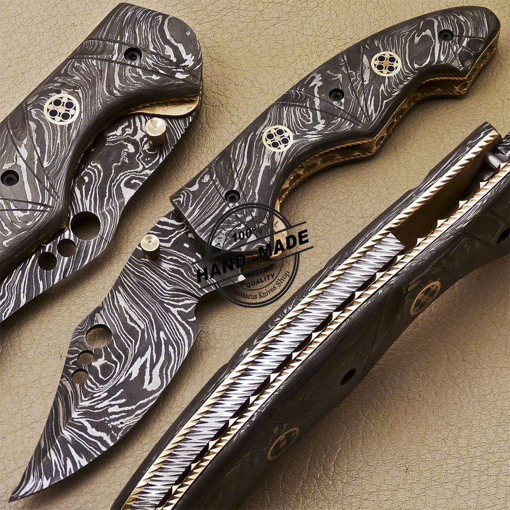 Damascus Folding Knife