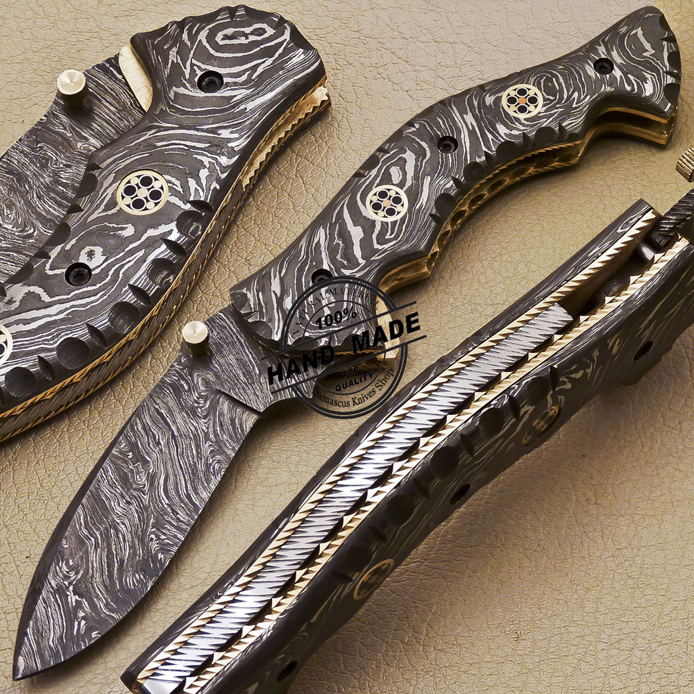 New Full Damascus Folding