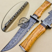 Damascus Bowie Knife