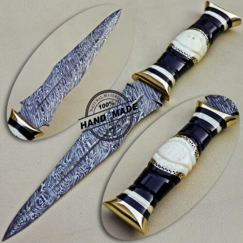 New Damascus Dagger Knife
