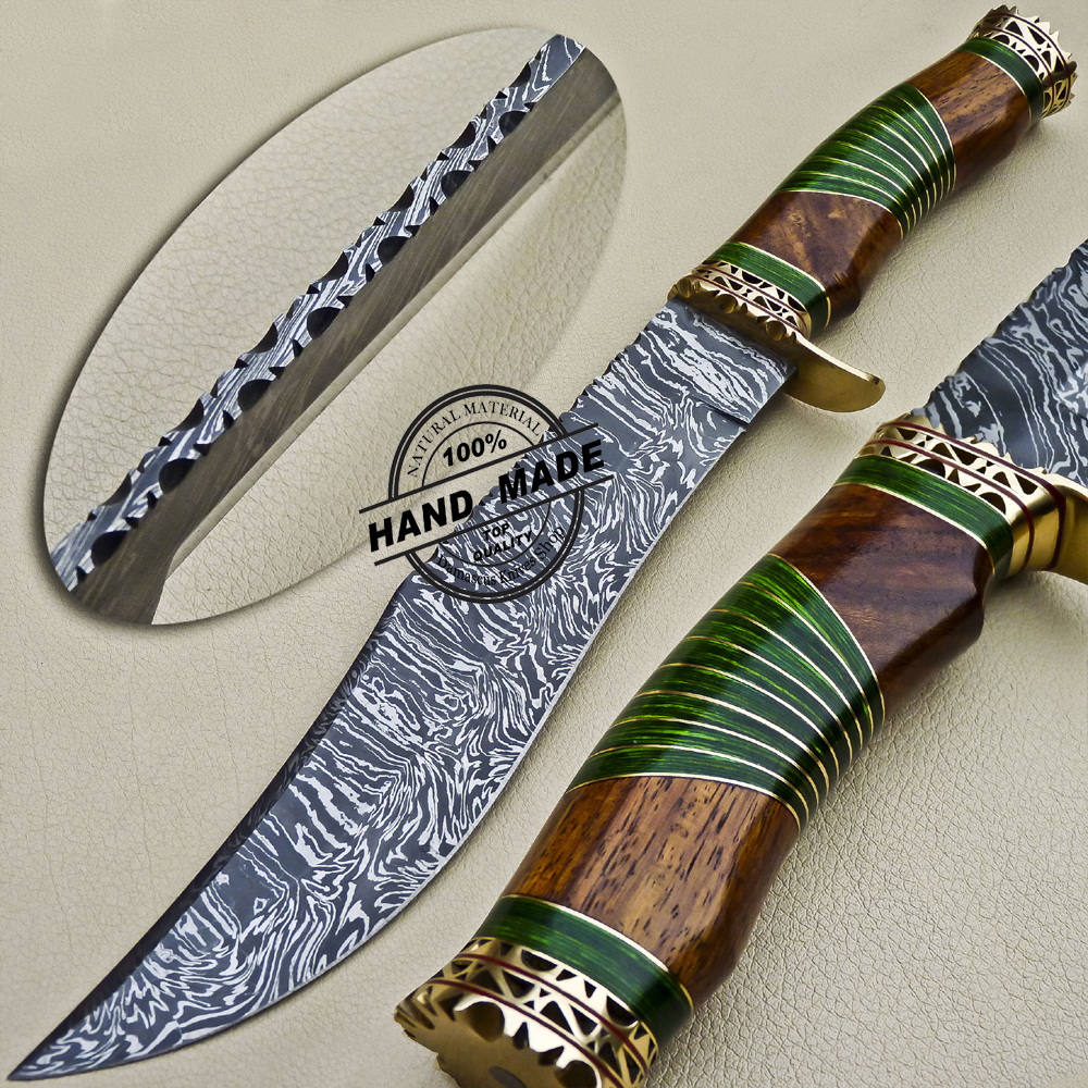 Fancy Damascus Bowie