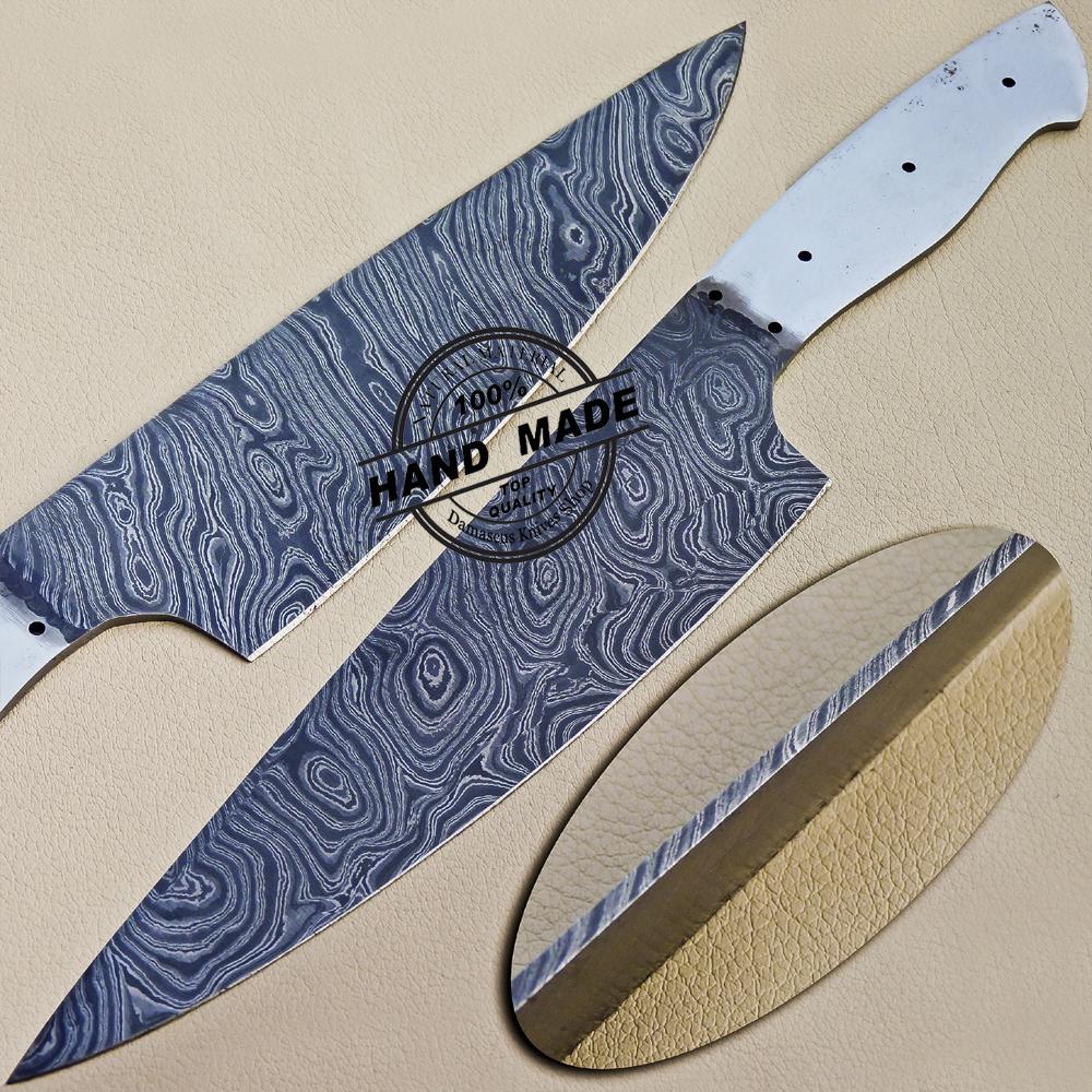 Kitchen Knife Blanks: Custom Handmade Damascus Barber Razor Wet Shaving Knife
