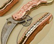 Damascus Karambit Pocket Knife