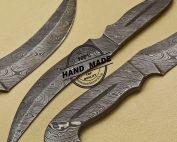 Full Damascus Skinner Knife
